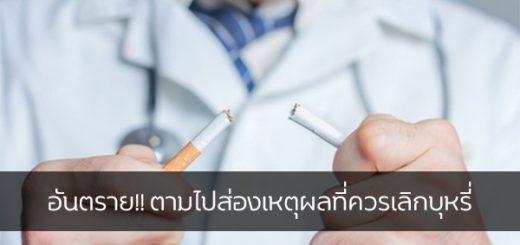 อันตราย!! ตามไปส่องเหตุผลที่ควรเลิกบุหรี่ ข่าวสาร ความรู้ สุขภาพ ครอบครัว กีฬา ออกกำลังกาย อันตรายบุหรี่